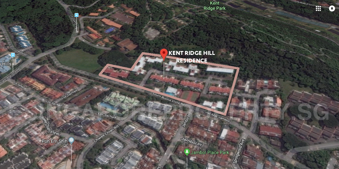 Kent Ridge Hill Residences Location in Front of Kent Ridge Park . Aerial View