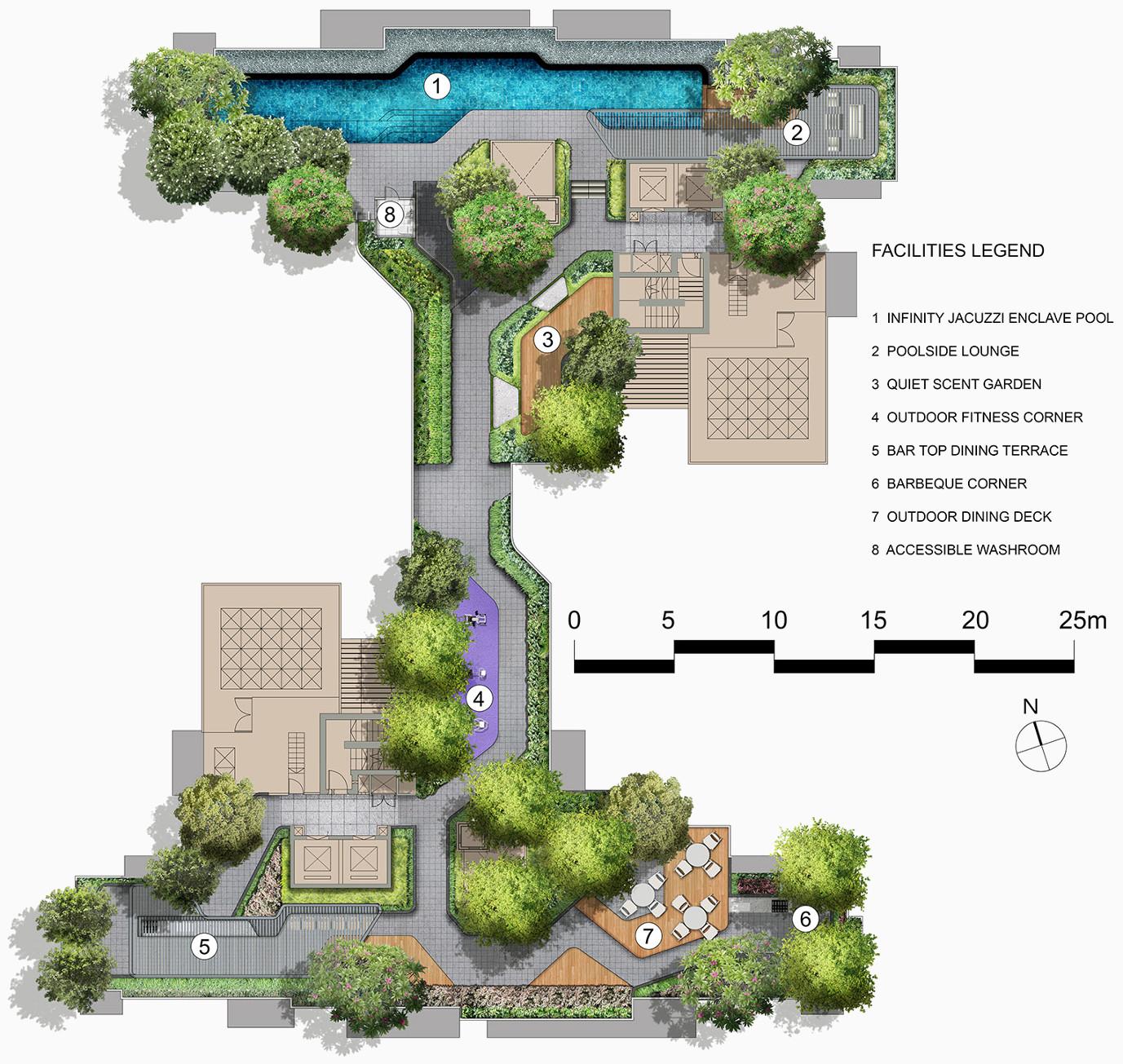 Mont Botanik Condo Site Plan Roof Terrace