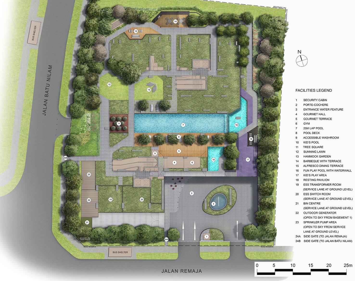 Mont Botanik Site Plan 1st Floor