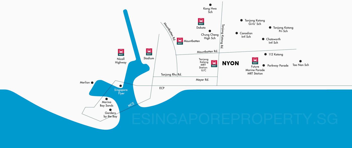 Nyon Condo Location . Amenities & MRT Stations
