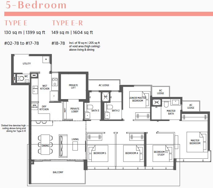 Parc Esta Floor Plan . 5 Bedroom Type E