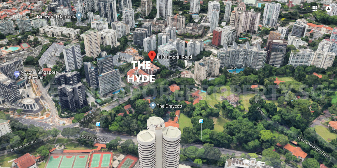 The Hyde Condo Location . Site View