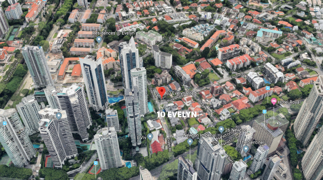 10 Evelyn Location in Newton / Novena Estate