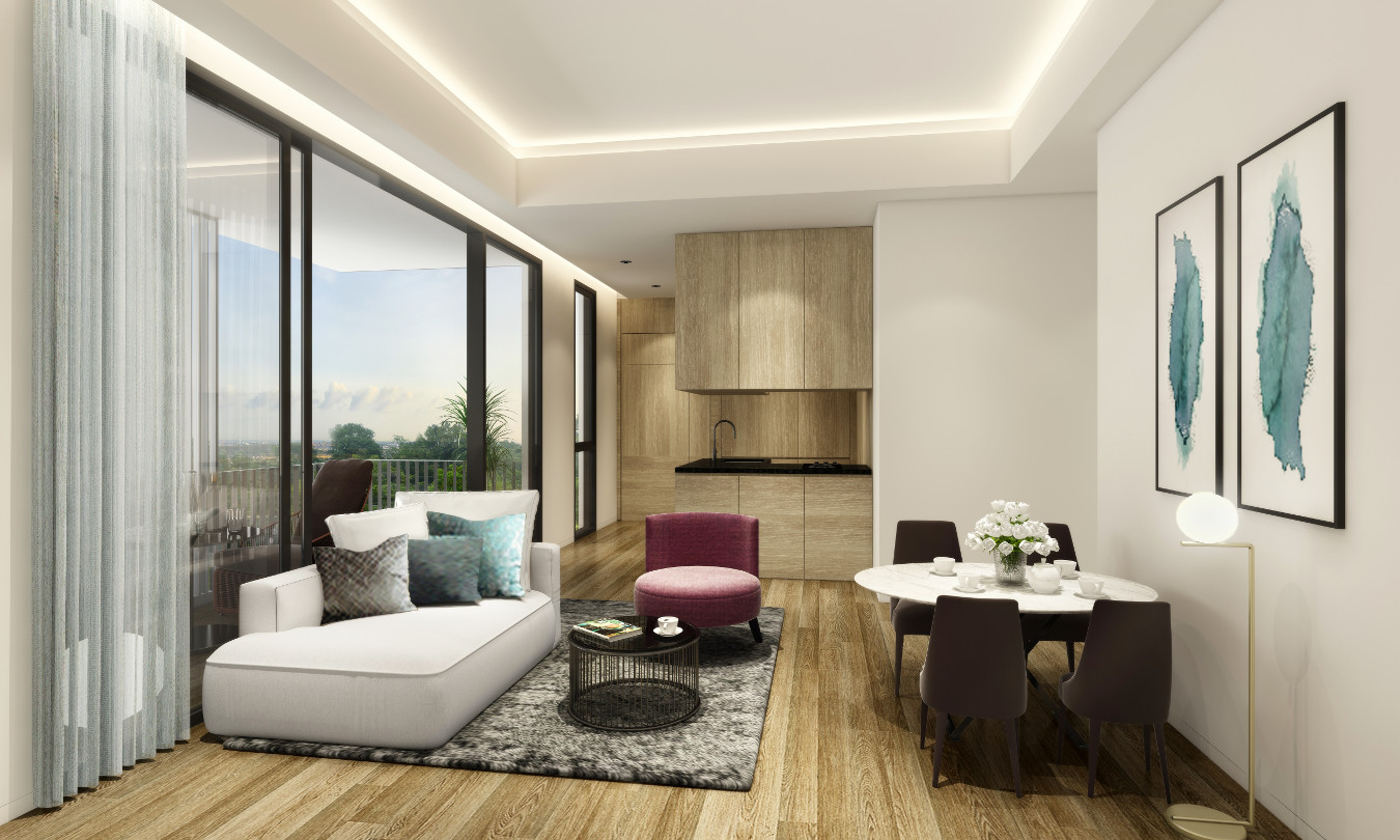 Artist's Impression . 10 Evelyn Showflat Living Dining