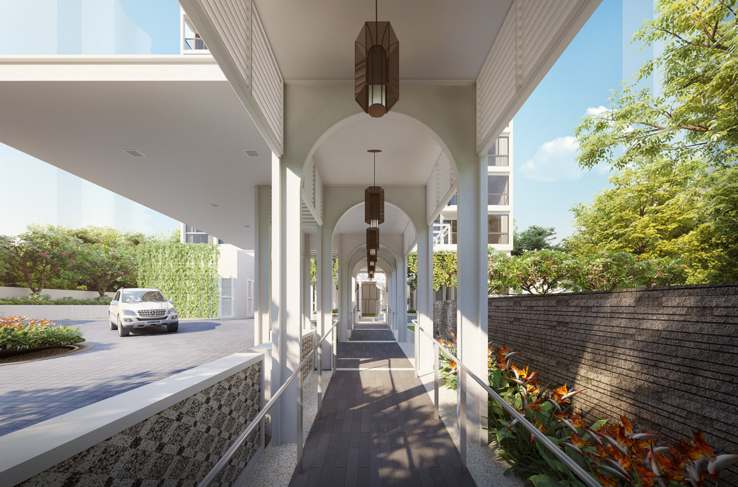 Artist's Impression . Nyon @ Amber Road . Entry Walkway