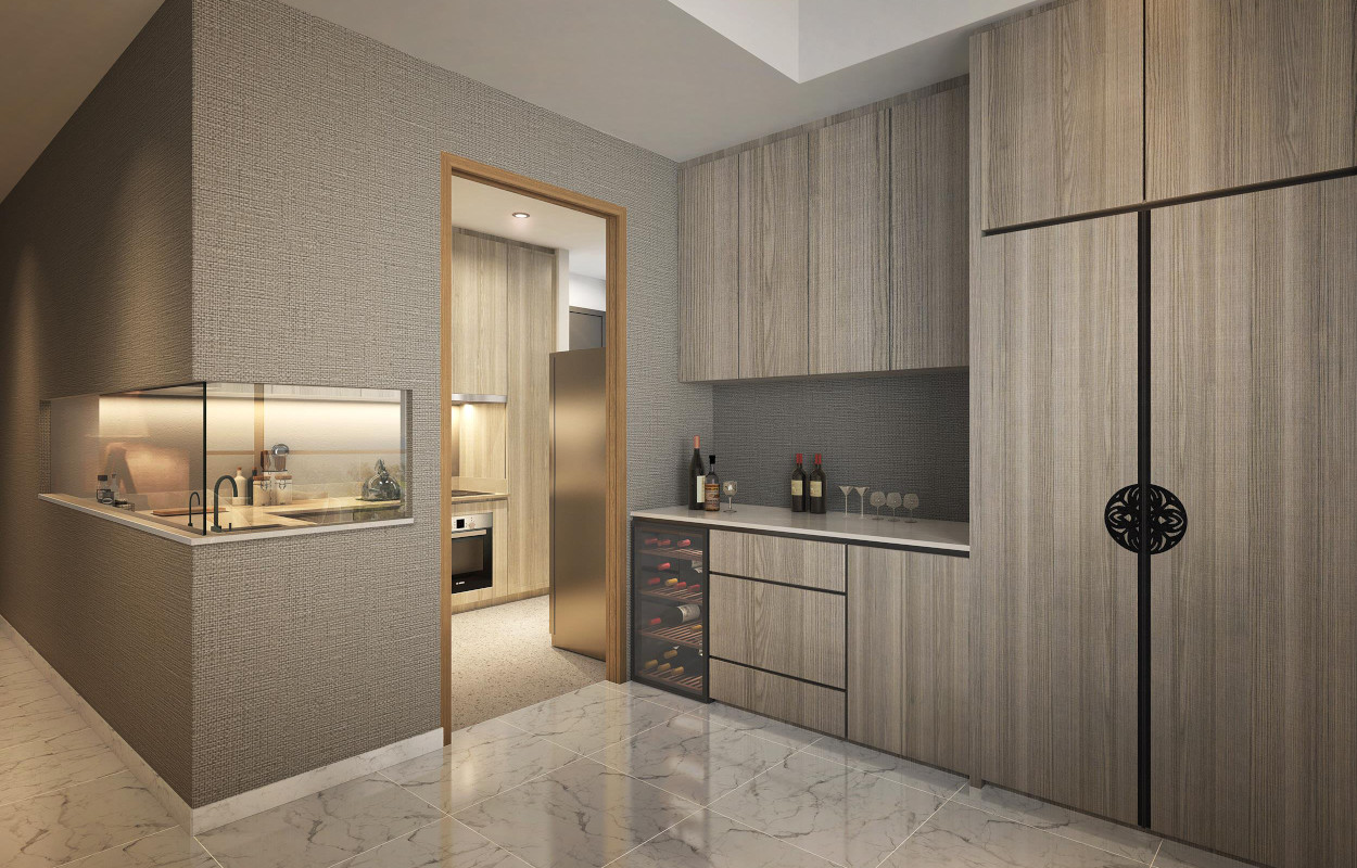 Artist's Impression . Nyon Condo Showflat Kitchen