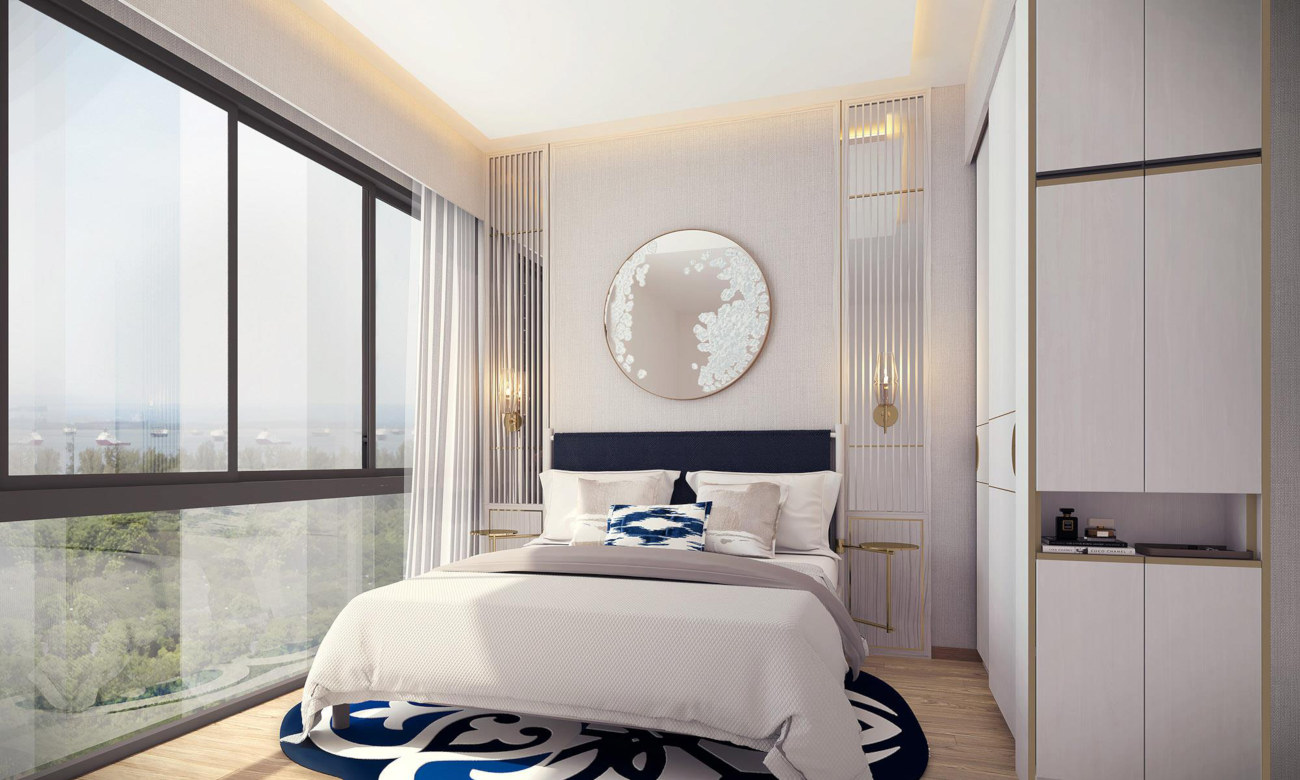 Artist's Impression . Nyon Condo Showflat Master Bedroom