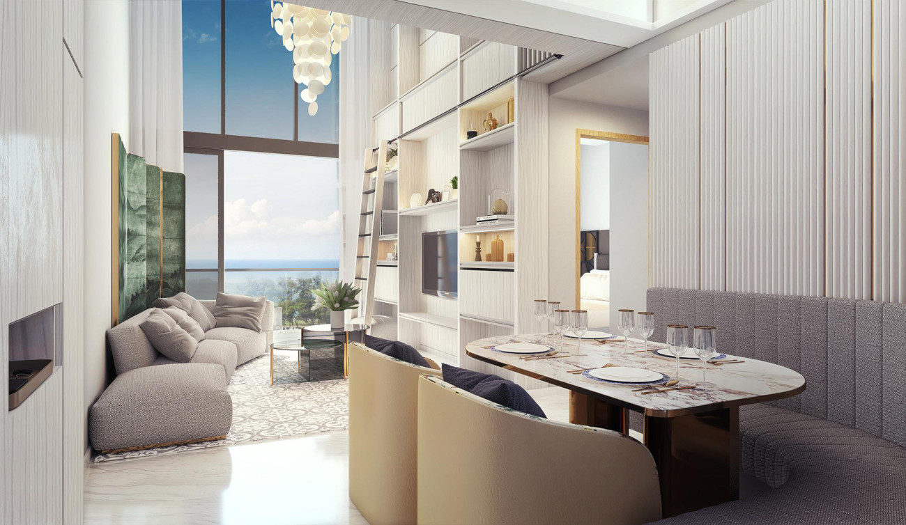 Artist's Impression . Nyon Showflat Living Dining