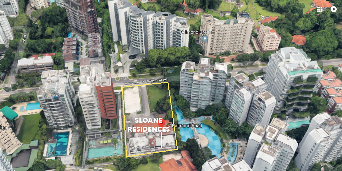 Sloane Condo Singapore . Site Location