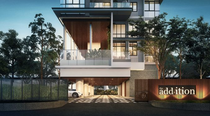 Artist's Impression . The Addition Condo . Main Entrance
