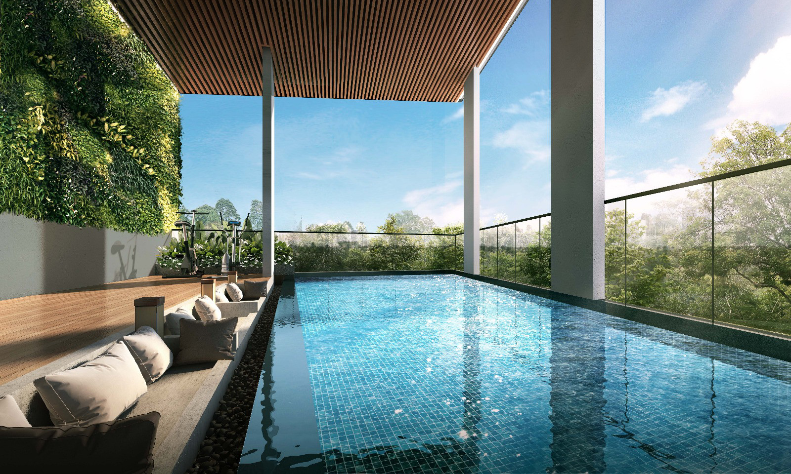 Artist's Impression . The Addition Condo Pool