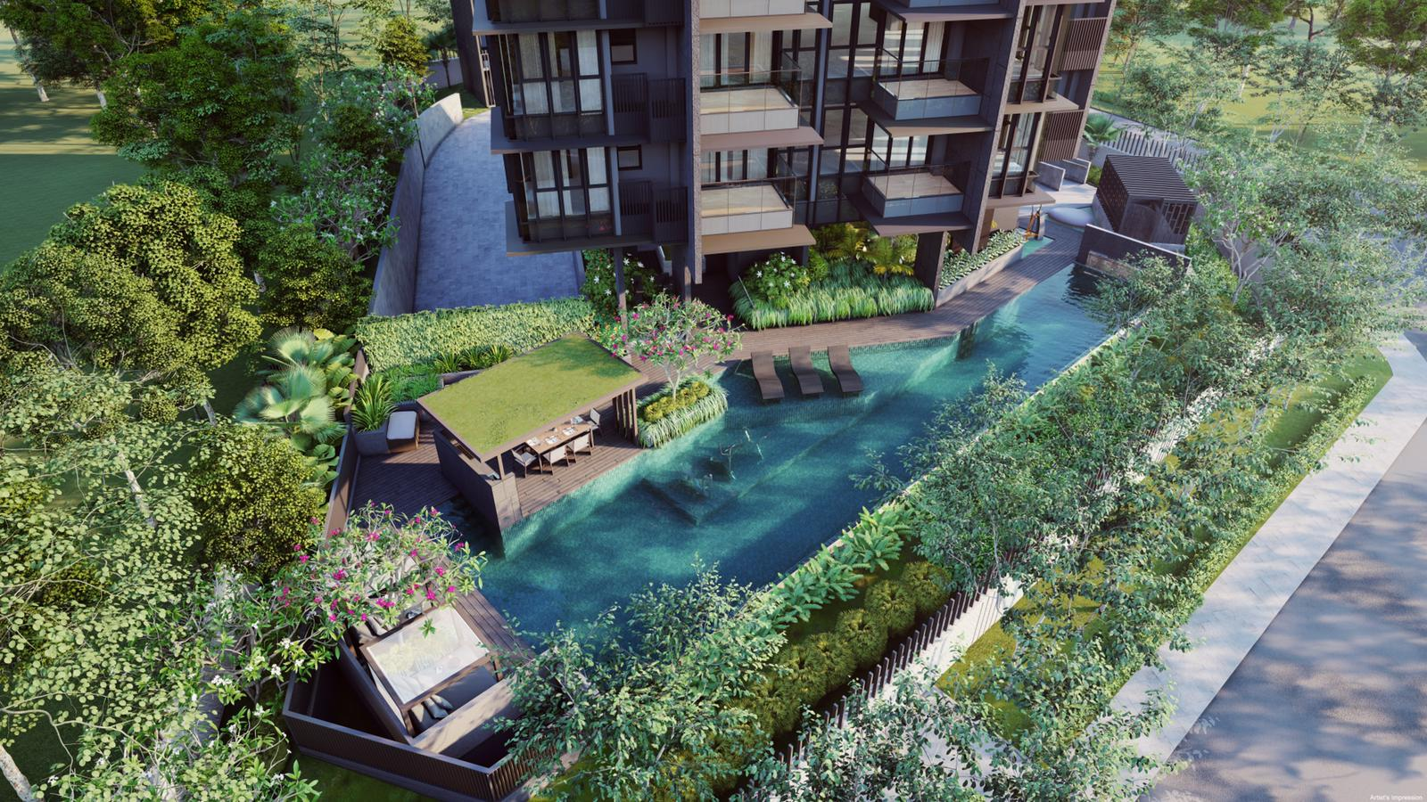 Artist's Impression . Fyve Derbyshire Condominium Pool