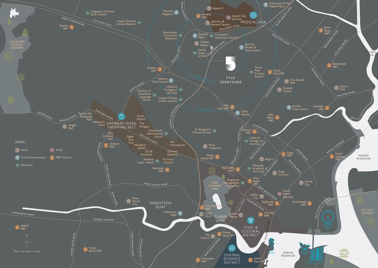 Fyve Derbyshire Location Amenities Map