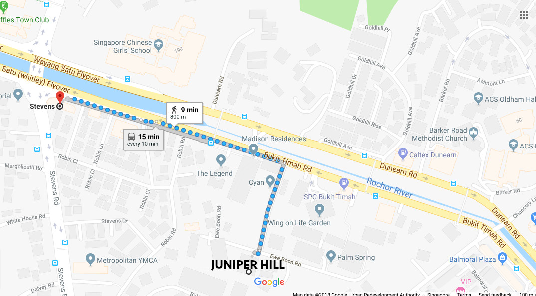 Juniper Hill Condo Location . MRT Station & Schools