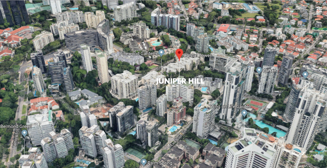 Juniper Hill Condo Location . At Upscale Bukit Timah