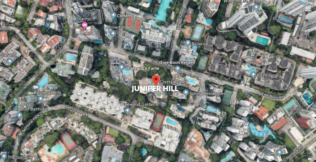 Juniper Hill Site Location in Bukit Timah