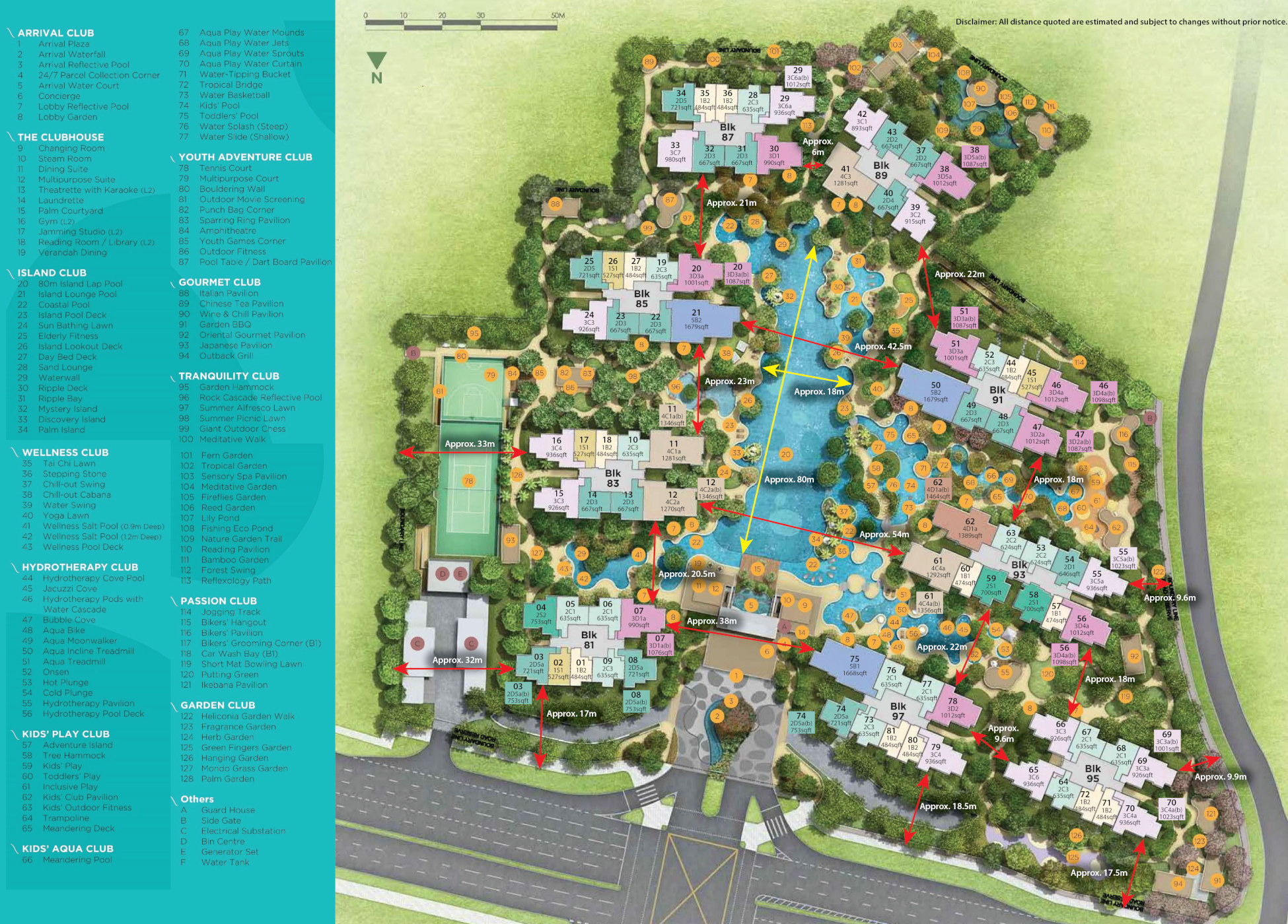 Florence Residences Site Plan Unit Types