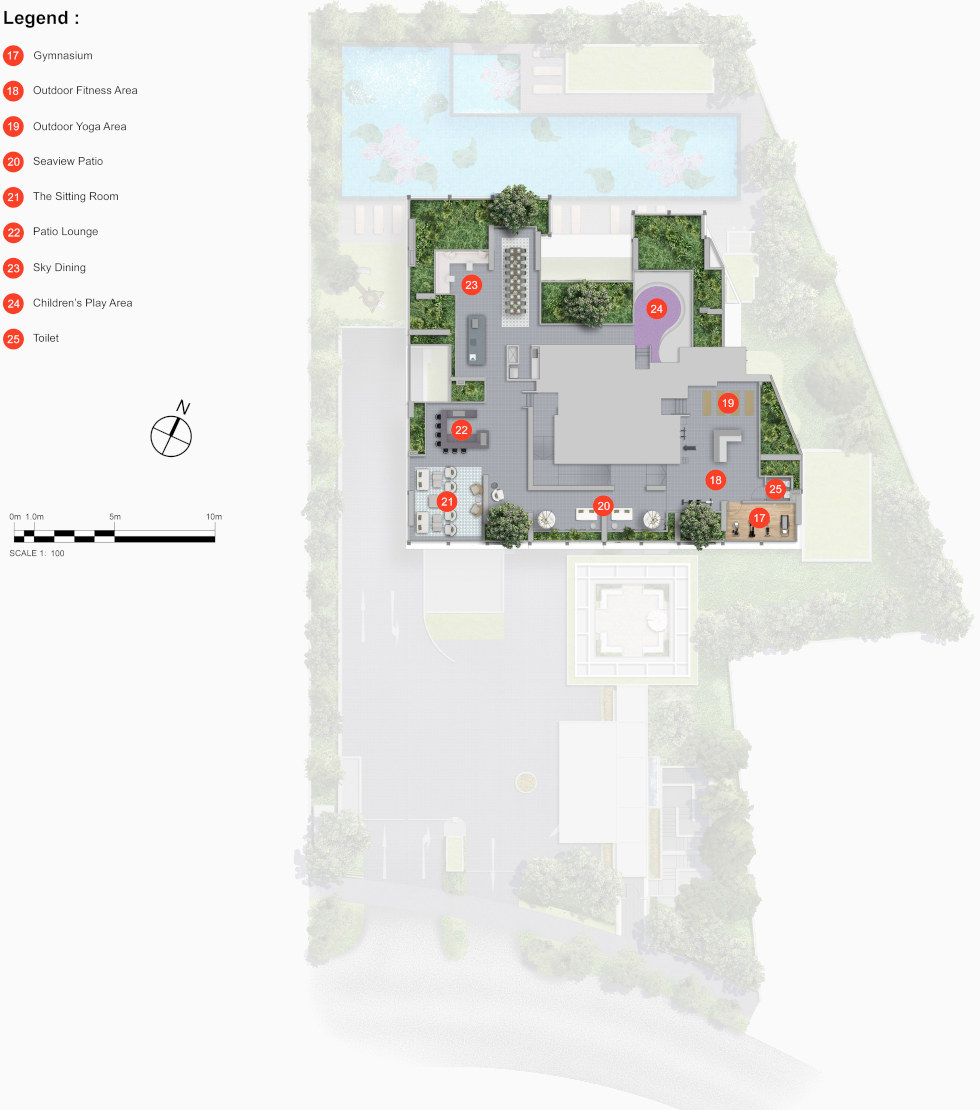 Nyon Site Plan . 14th Floor Sky Terrace