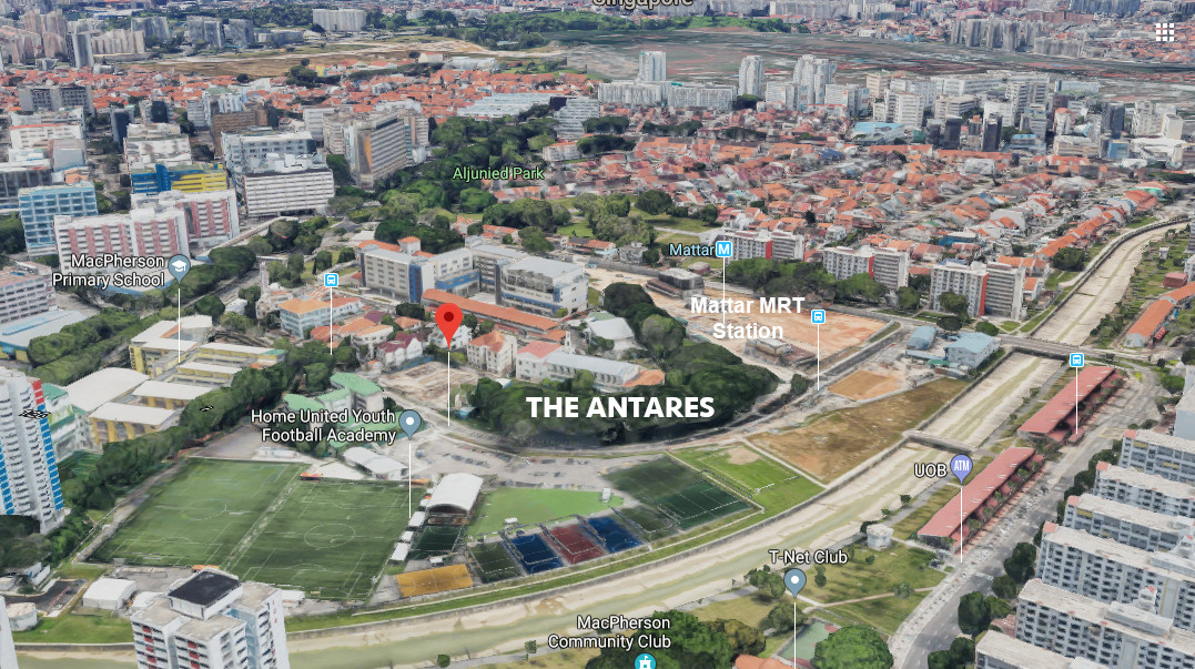 The Antares Singapore Location . Site View