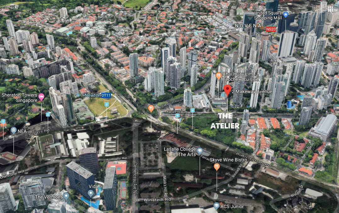 The Atelier Condo Location @ Newton near Orchard Road