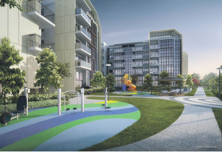Artist's Impression . The Gazania Condo Kids Playground