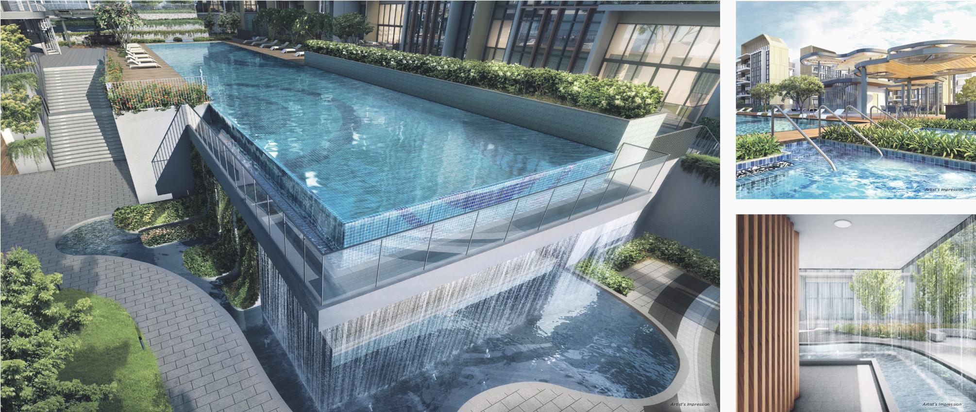 Artist's Impression . Gazania Condo Lap Pool and Aqua Zone