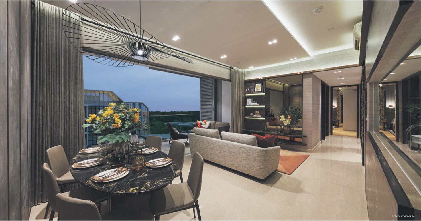 About The Gazania Showflat Living Dining
