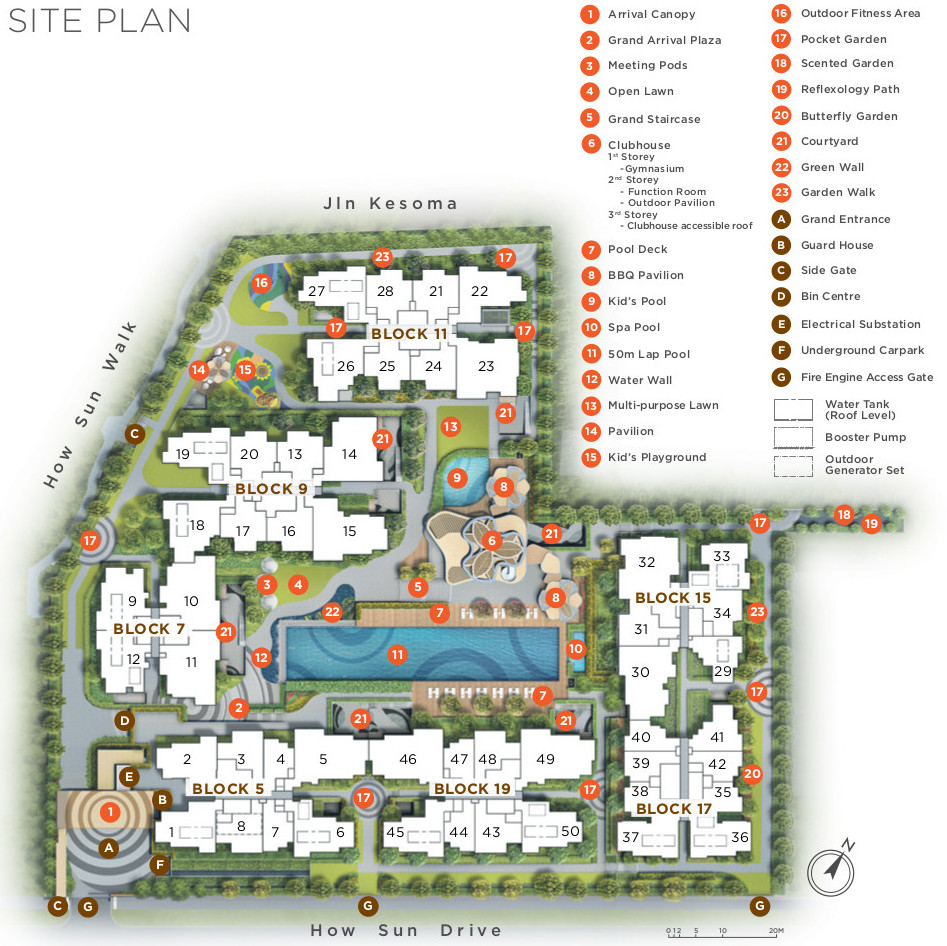 The Gazania Site Plan