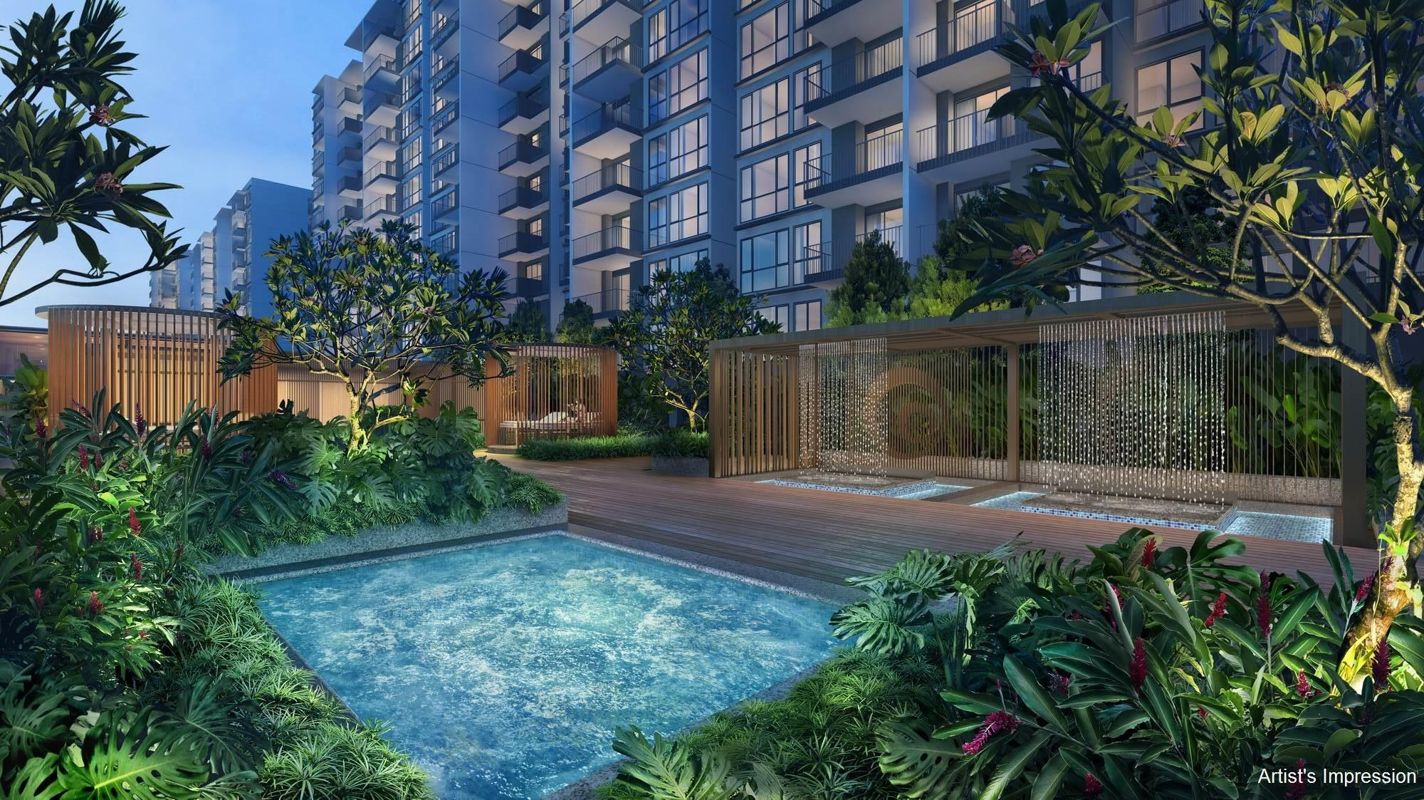 Artist's Impression . Treasure Condo Pool