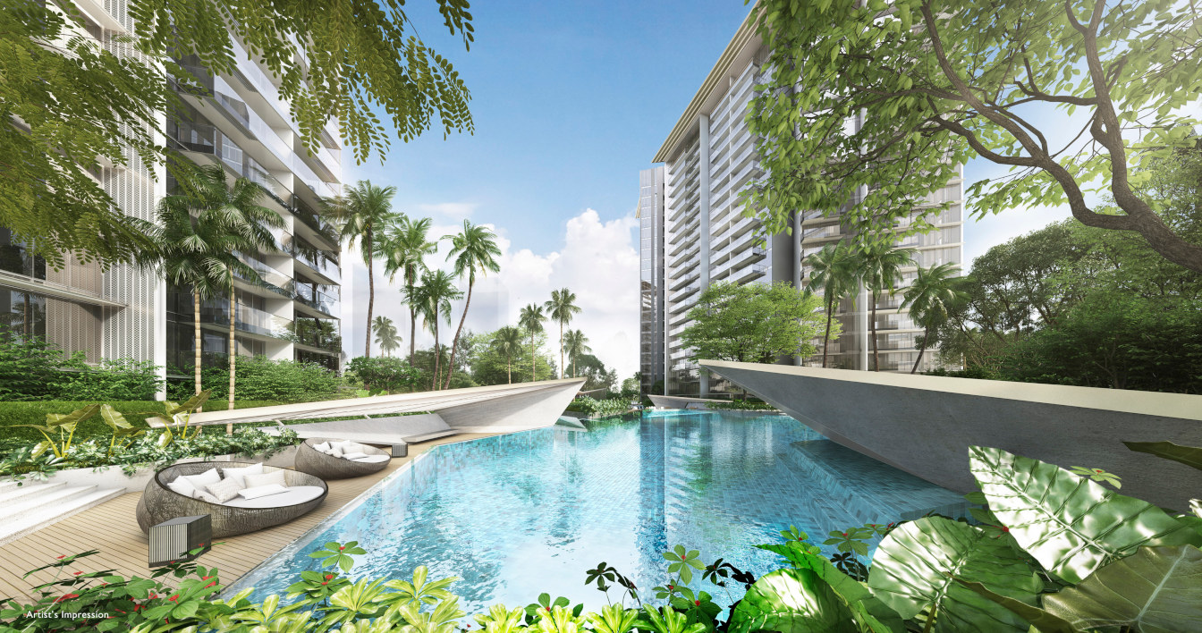 The Amber Park Condo Lagoon Pool