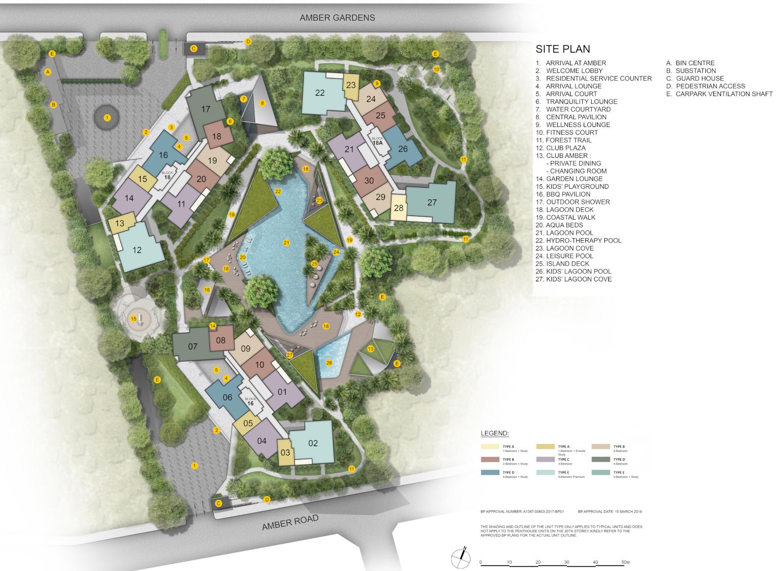 Amber Park Site Plan . Level 1