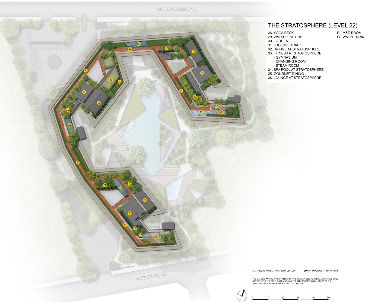 The Amber Park Condo Site Plan . Level 22