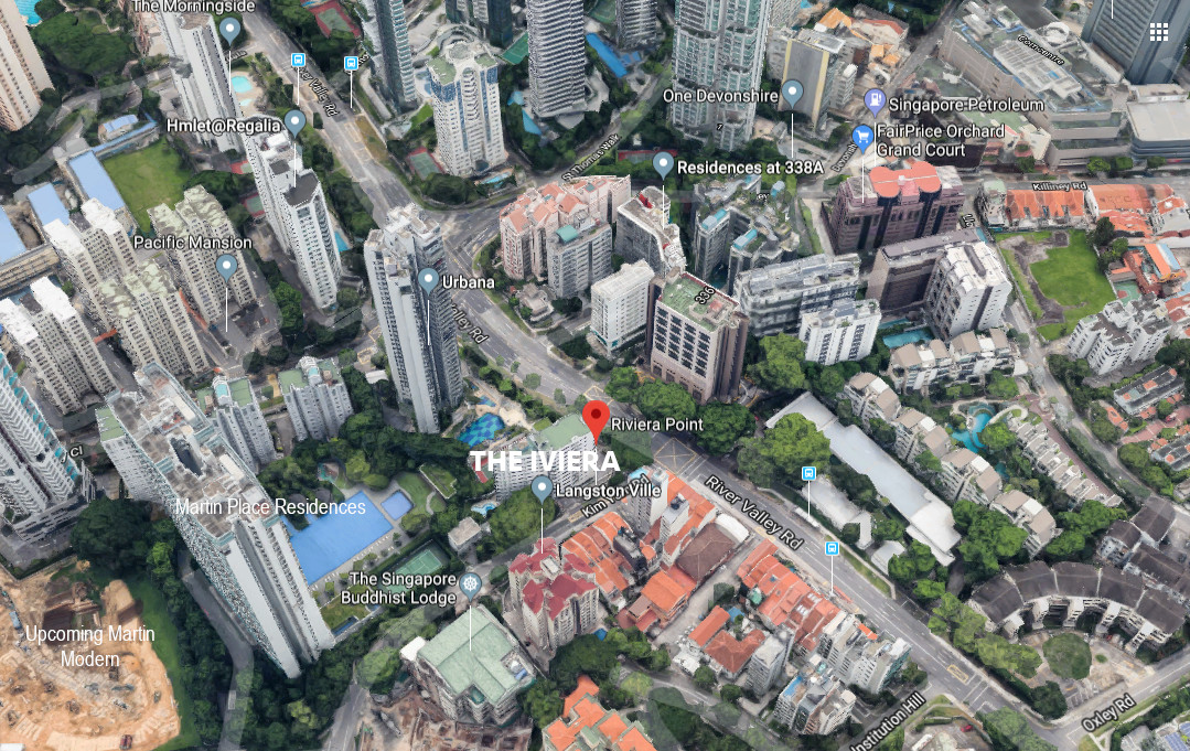 The Iviera Condo Location at River Valley near Orchard Road