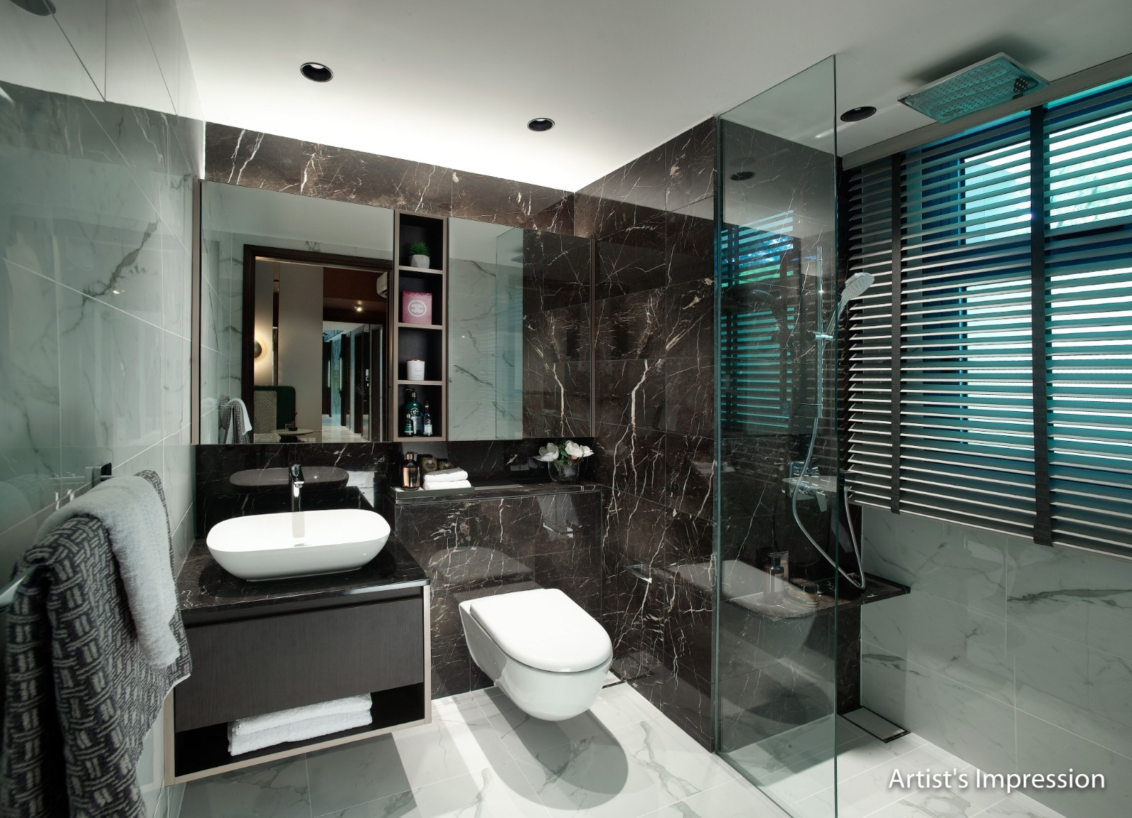 Wilshire Residence Showflat Bathroom
