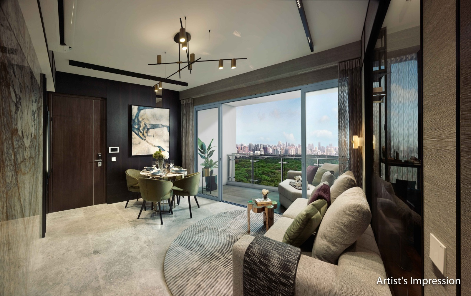 Wilshire Residences Showflat Living Dining
