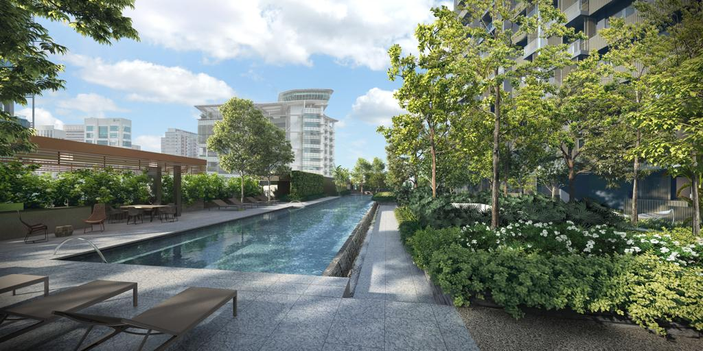 Artist's Impression . Midtown Bay Level 7 Garden