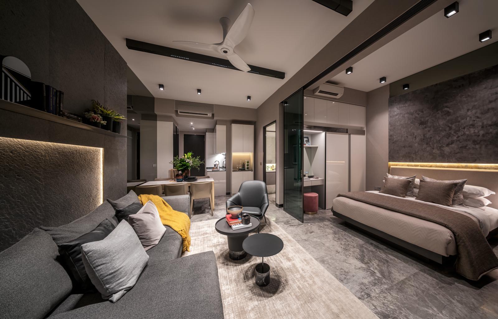 Artist's Impression . Guoco Midtown Bay Showflat . Living Room