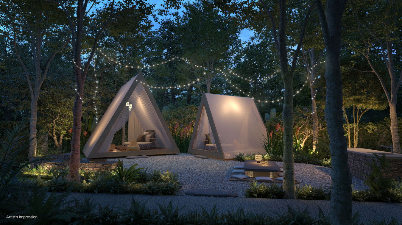 Glamping Grounds at Corner of Site