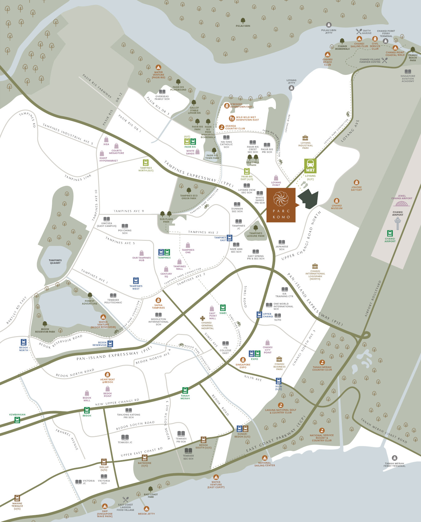 Parc Komo Location Amenities Map