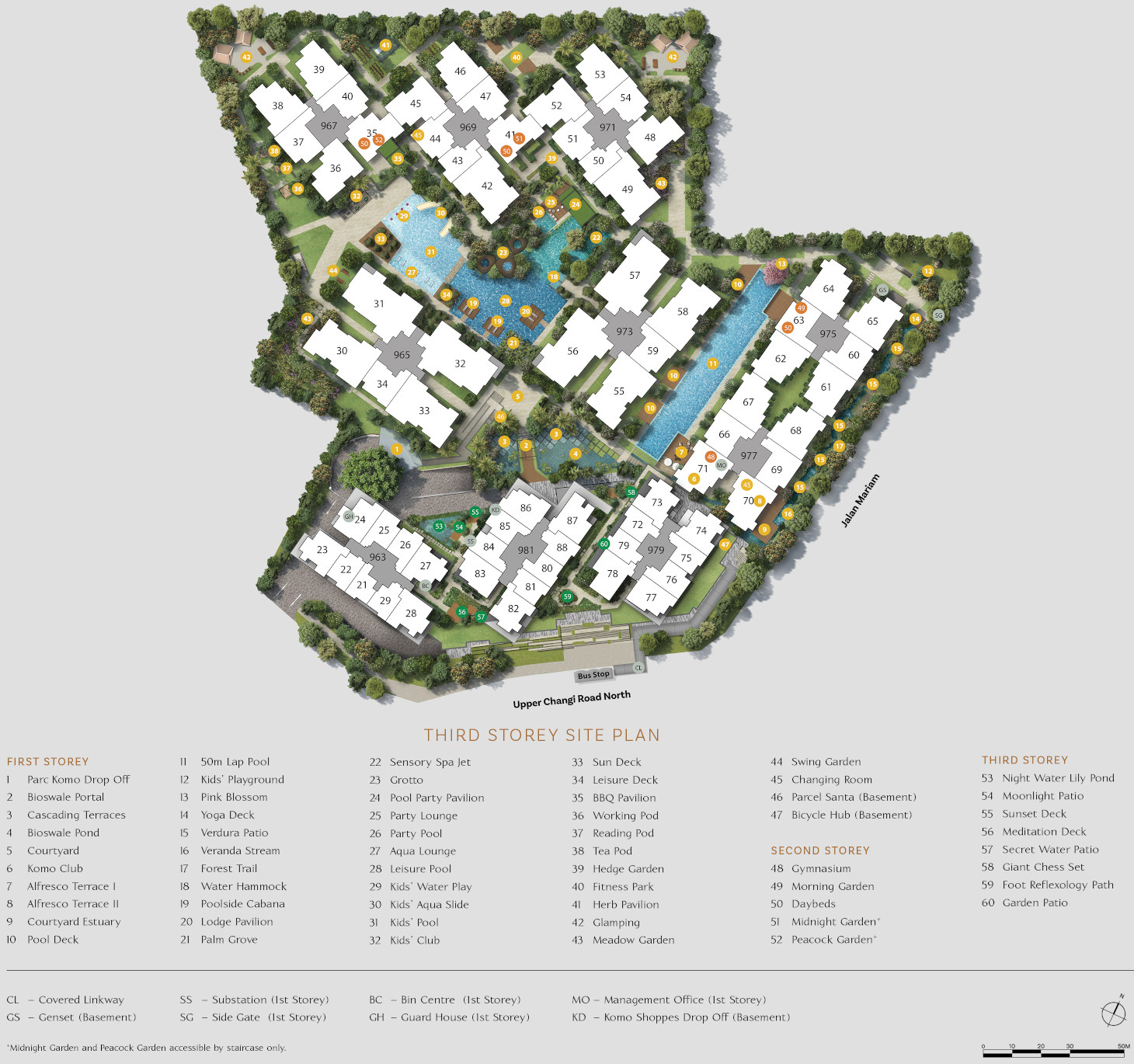 Parc Komo Site Plan Layout with Legend