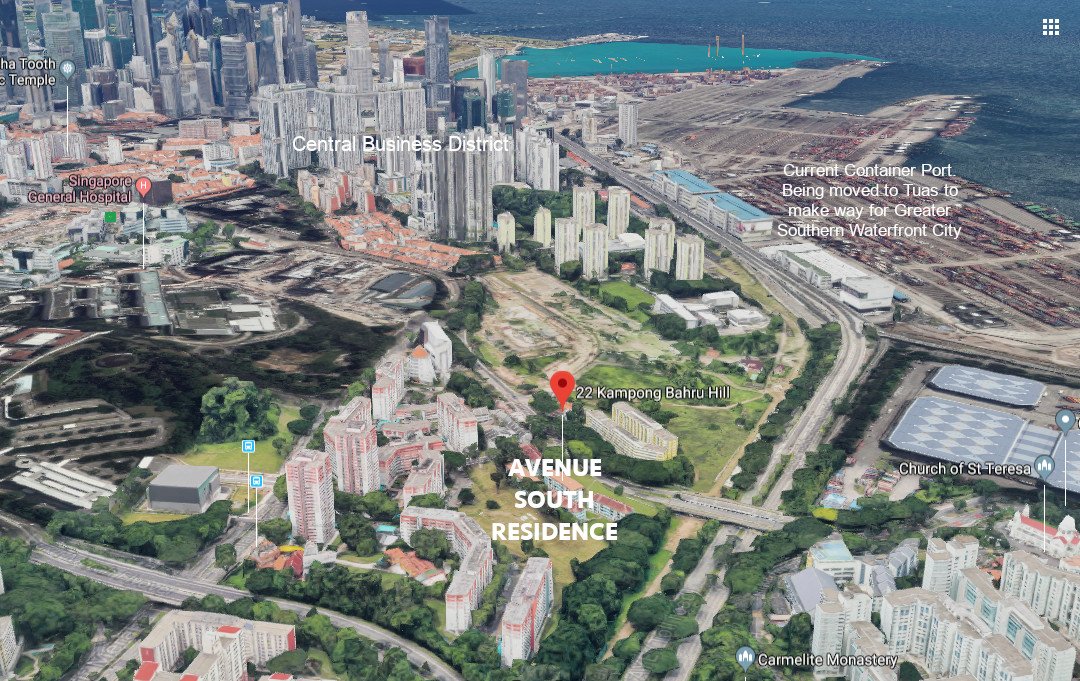 Avenue South Residences Location . View