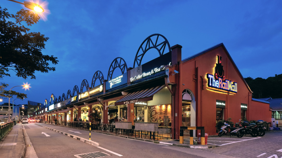 The Rail Mall near the Hillview MRT Station