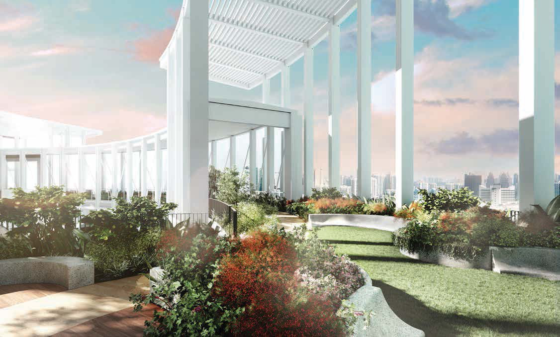 Artist's Impression . One Pearl Bank Condo Roof Garden