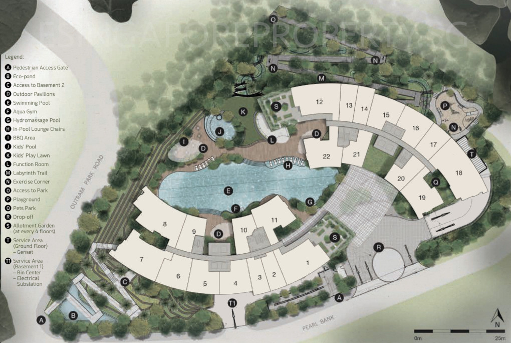 One Pearl Bank Site Plan . Ground Level