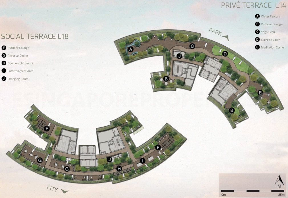 Site Plan . Level 18 Terraces