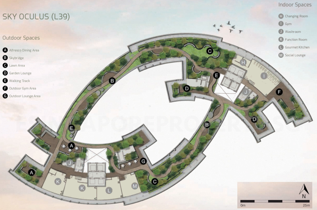 One Pearl Bank Condo Site Plan . Level 39 Roof Terrace