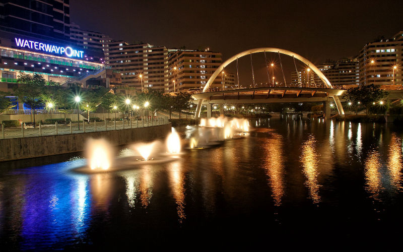 Punggol Waterway Point Night View