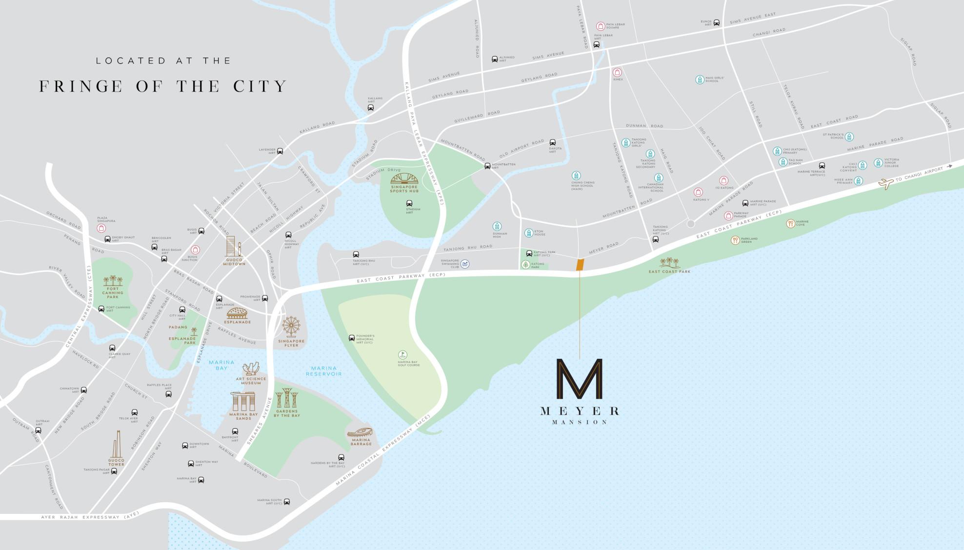 Meyer Mansion Location Map . At City Fringe