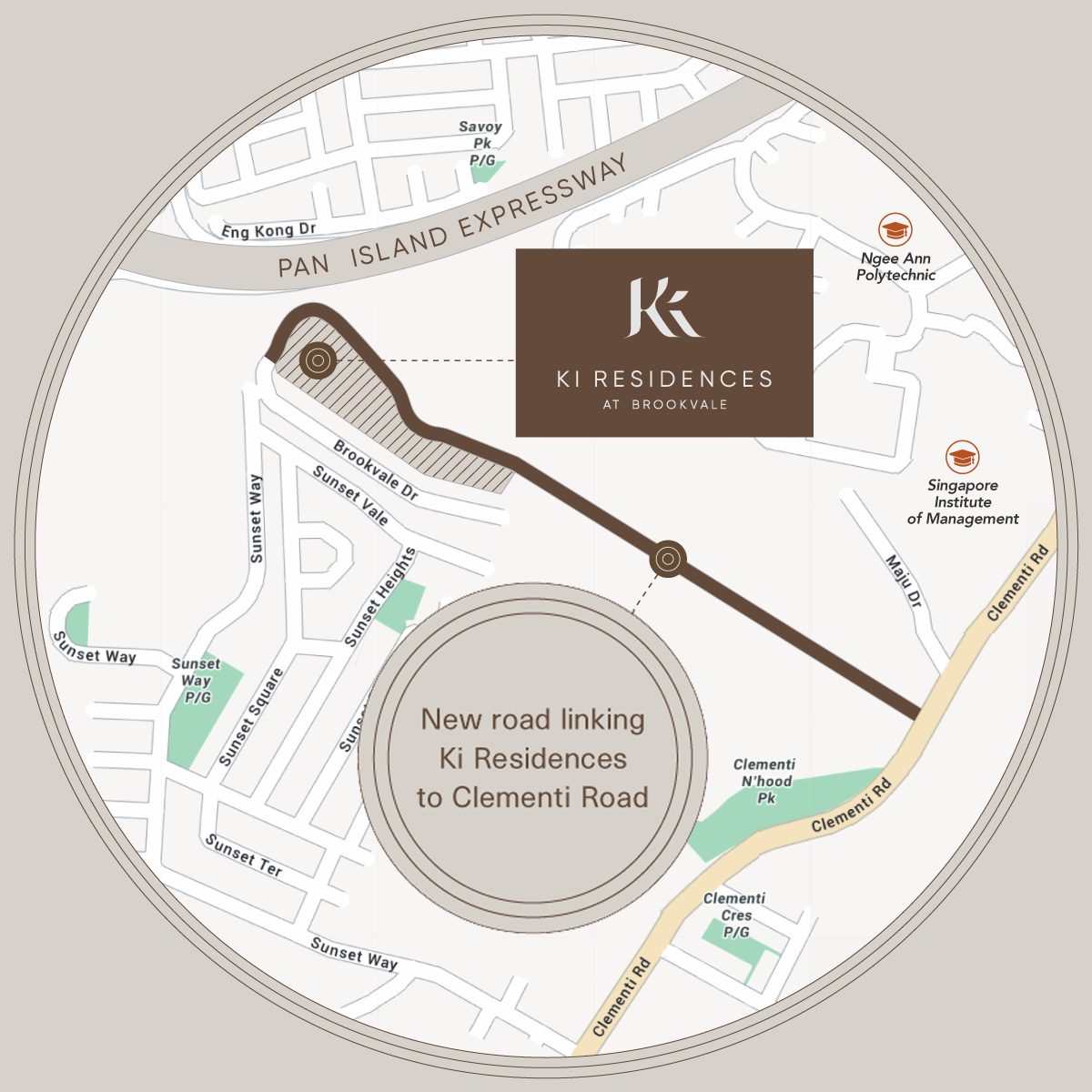The Ki Residence Location Map