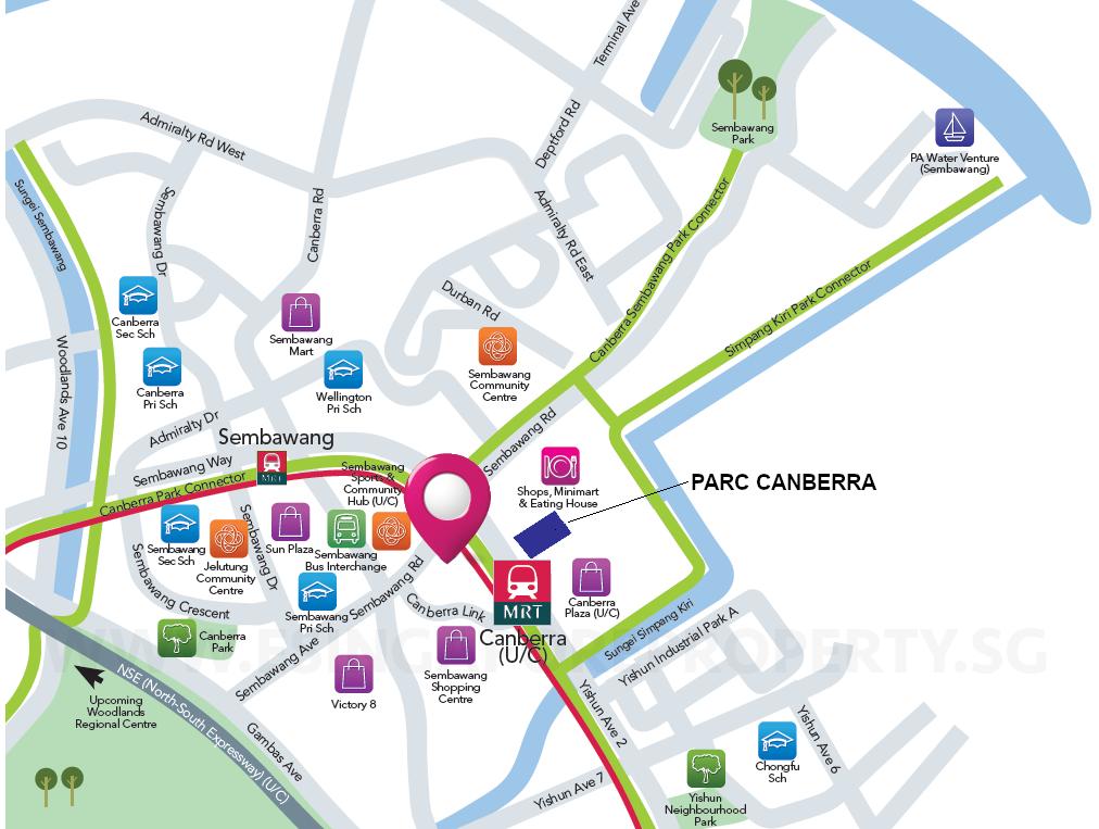 Parc Canberra EC Location Schematic . Connectivity
